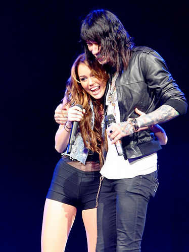 miley cyrus and trace cyrus Miley Cyrus To Duet With Her Brother